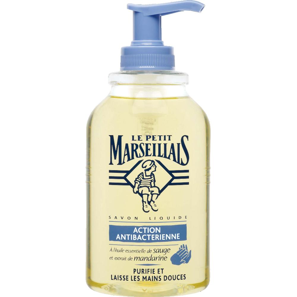 Savon liquide anti-bactérien sauge mandarine, Le Petit Marseillais (300 ml)