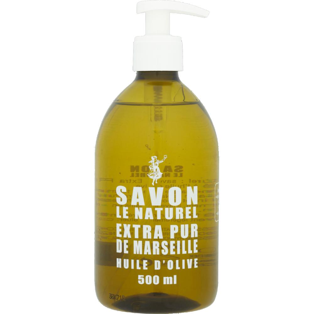 Savon liquide extra pur huile d'olive, Savon le naturel (500 ml)