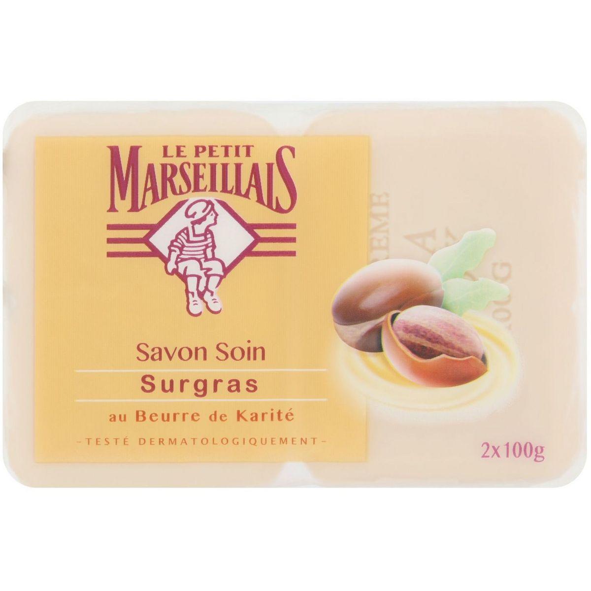 Savon surgras au beurre de karité, Le Petit Marseillais ( 2 x 100 g)