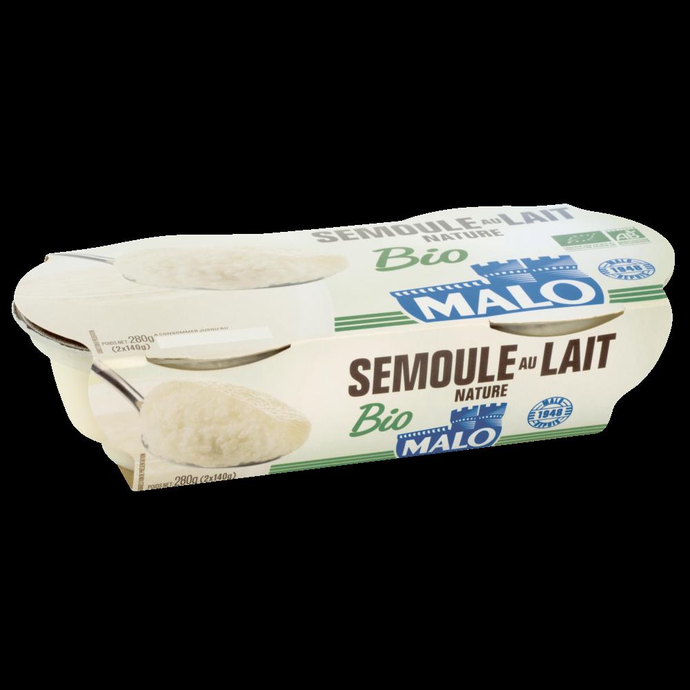 Semoule au lait nature BIO, Malo (2 x 140 g)