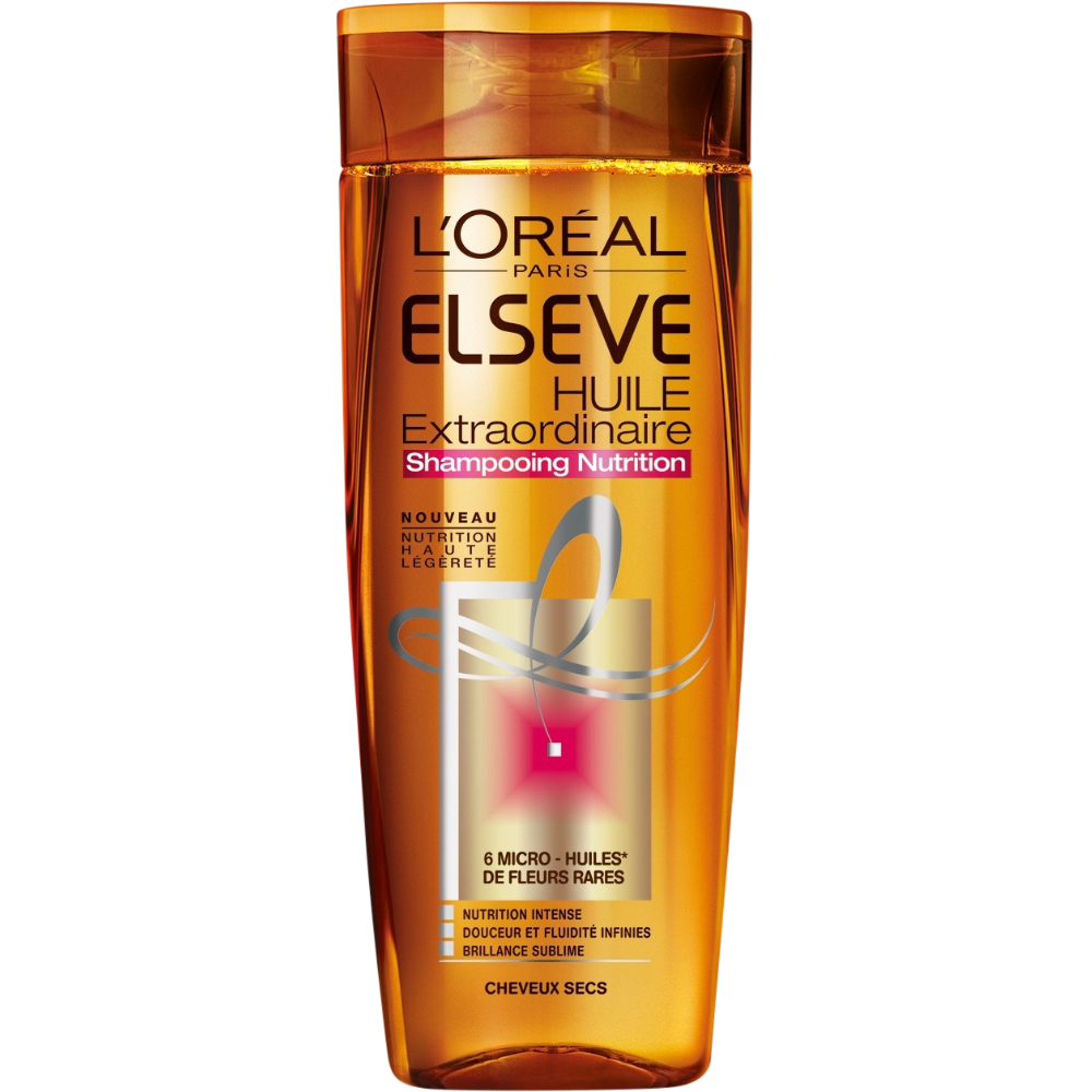 Shampoing huile extraordinaire pour cheveux secs, Elsève (250 ml)