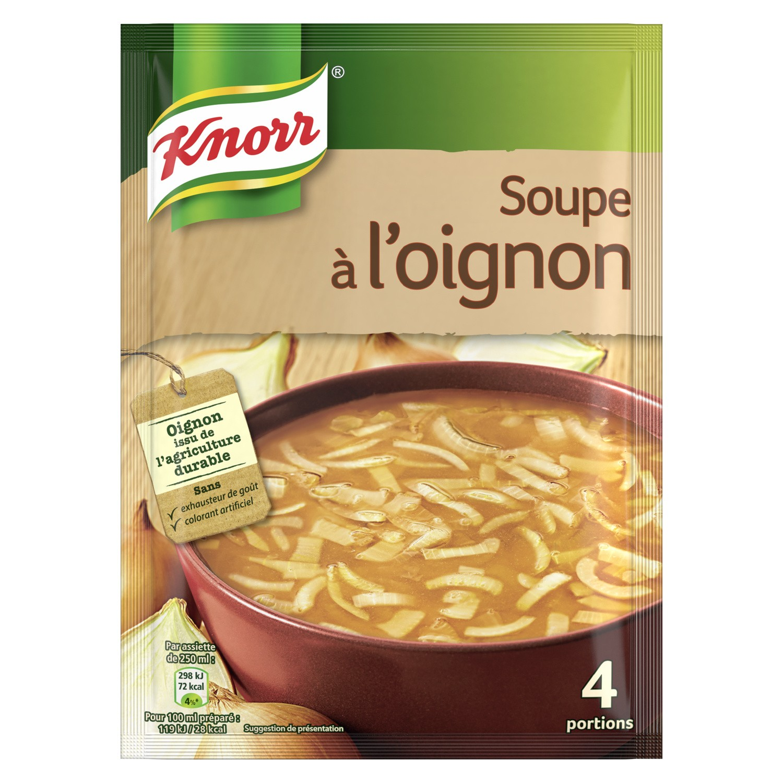 Soupe Oignon déshydratée, Knorr (1 L)