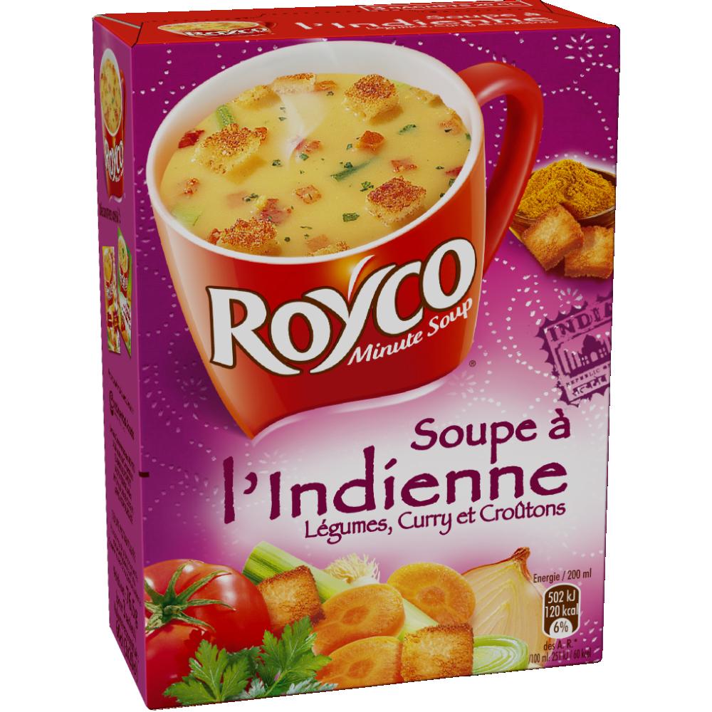 Soupe à l'indienne instantanée, Royco (3 sachets, 60 cl)