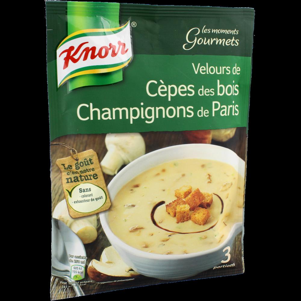 Soupe Velours cèpes des bois deshydratée, Knorr (91 g)