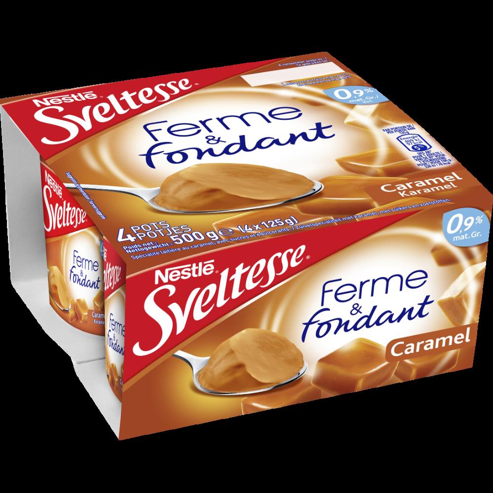 Sveltesse saveur caramel, Nestlé (4 x 125 g)