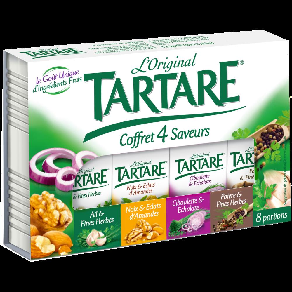 Tartare coffret aux 4 saveurs en portions (x 8, 133 g)