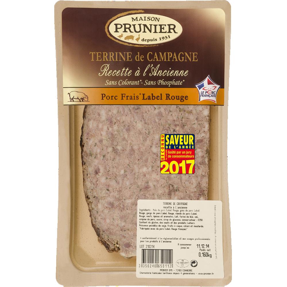 Terrine de campagne à l'ancienne en tranche, Prunier (160 g)