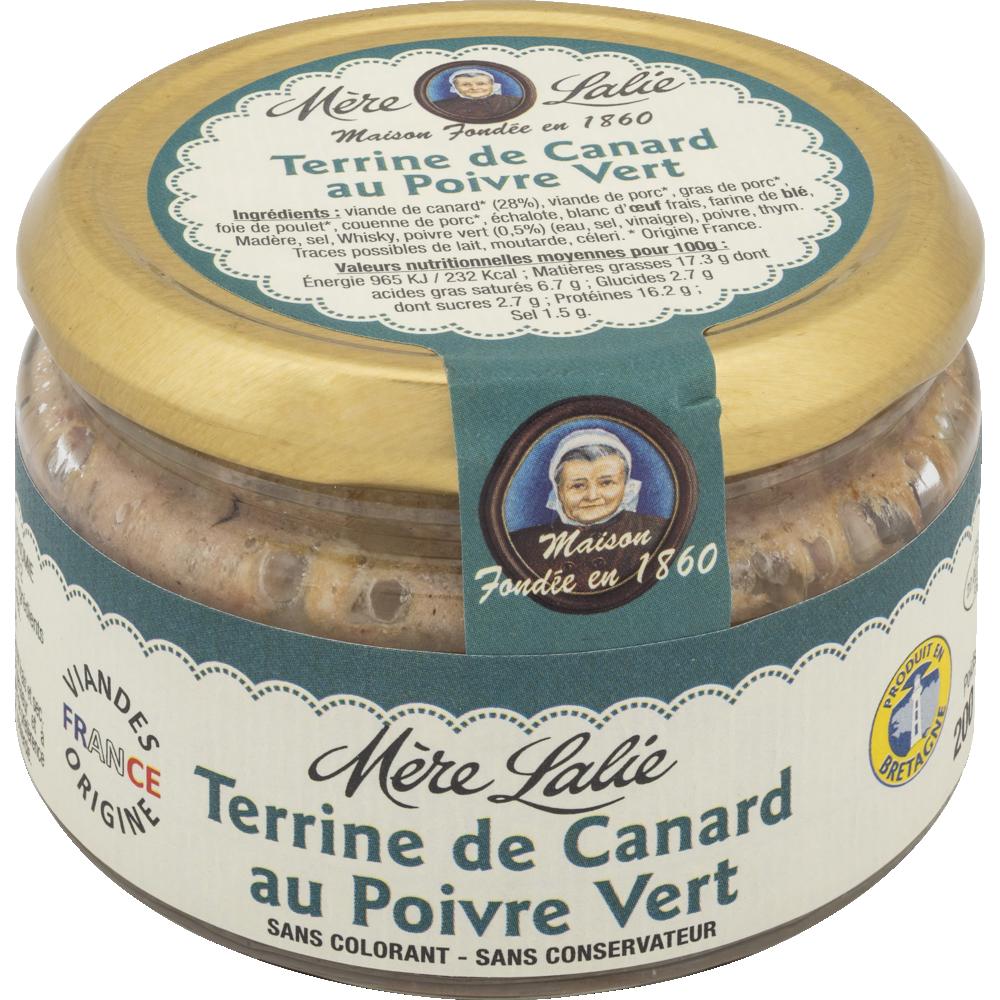 Terrine de canard au poivre vert, Mère Lalie (200 g)