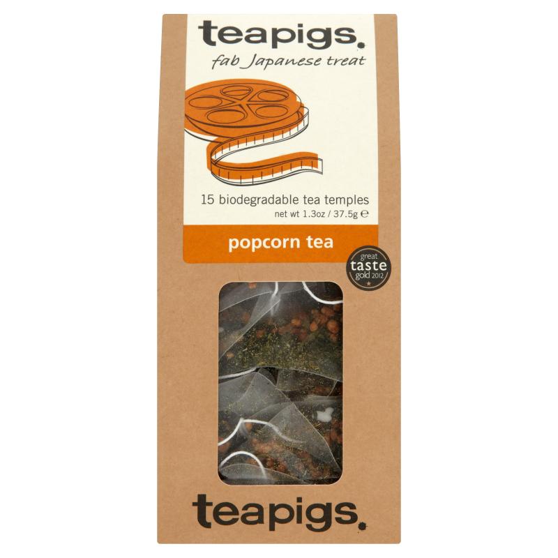 Thé vert au popcorn, Teapigs (x 15 sachets)