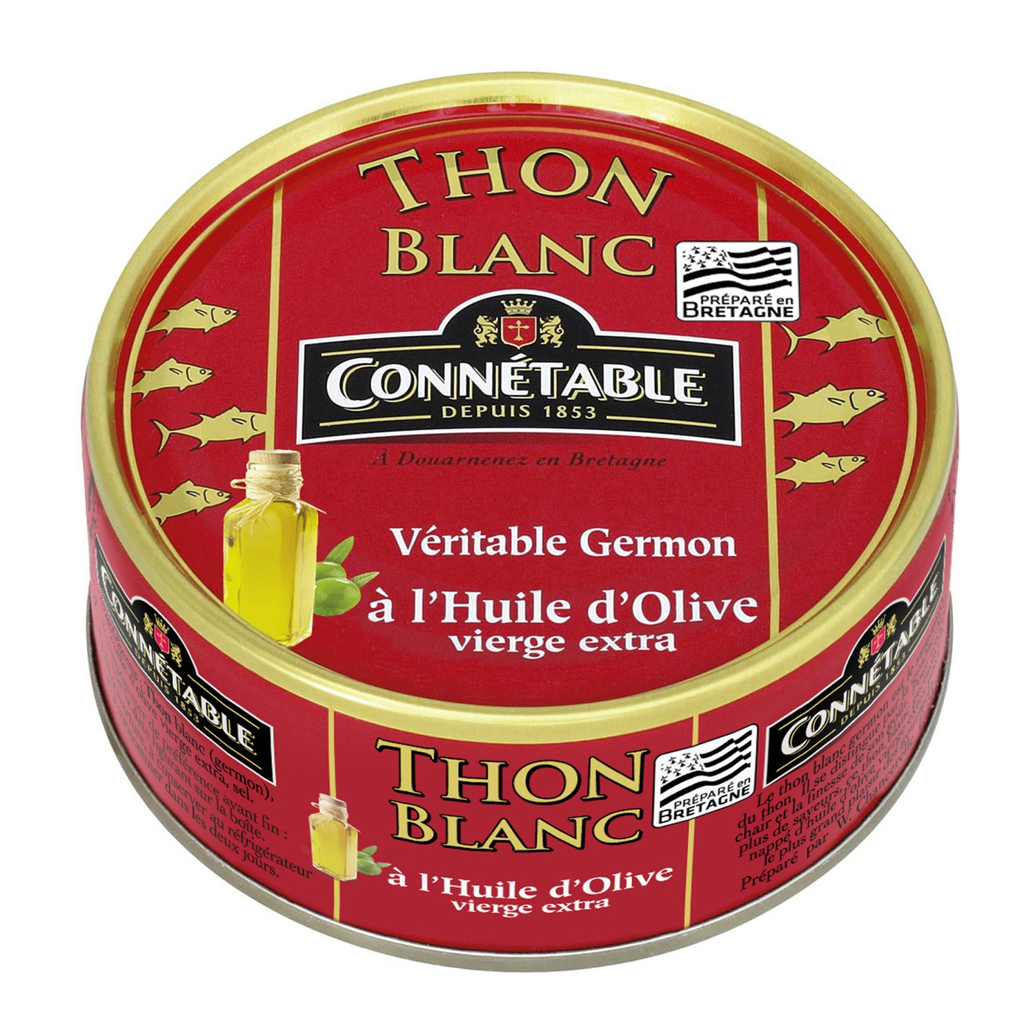 Thon blanc huile d'olive, Connetable (160 g)