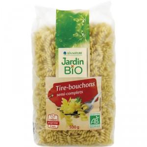 Pâte tire-bouchon semi-complets BIO, Jardin Bio (500 g)