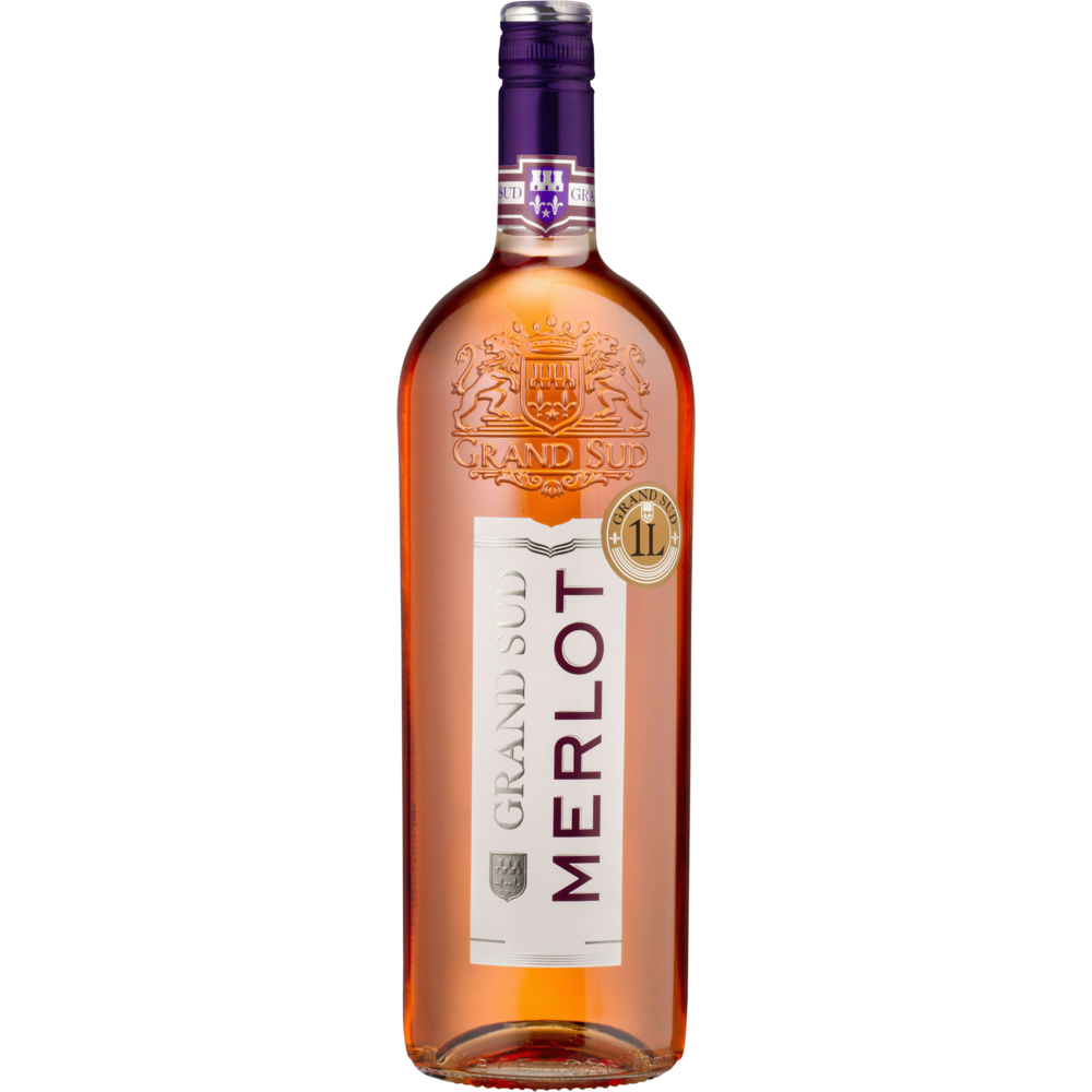 Vin rosé IGP de Pays d'Oc Merlot Grand Sud (1 L)