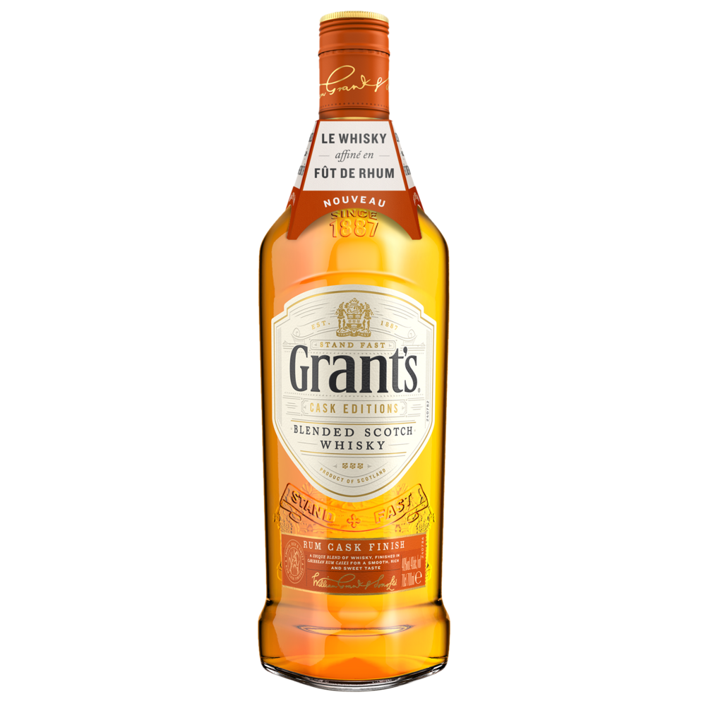 Whisky blended scotch Rum cask finish, Grant's (70 cl)