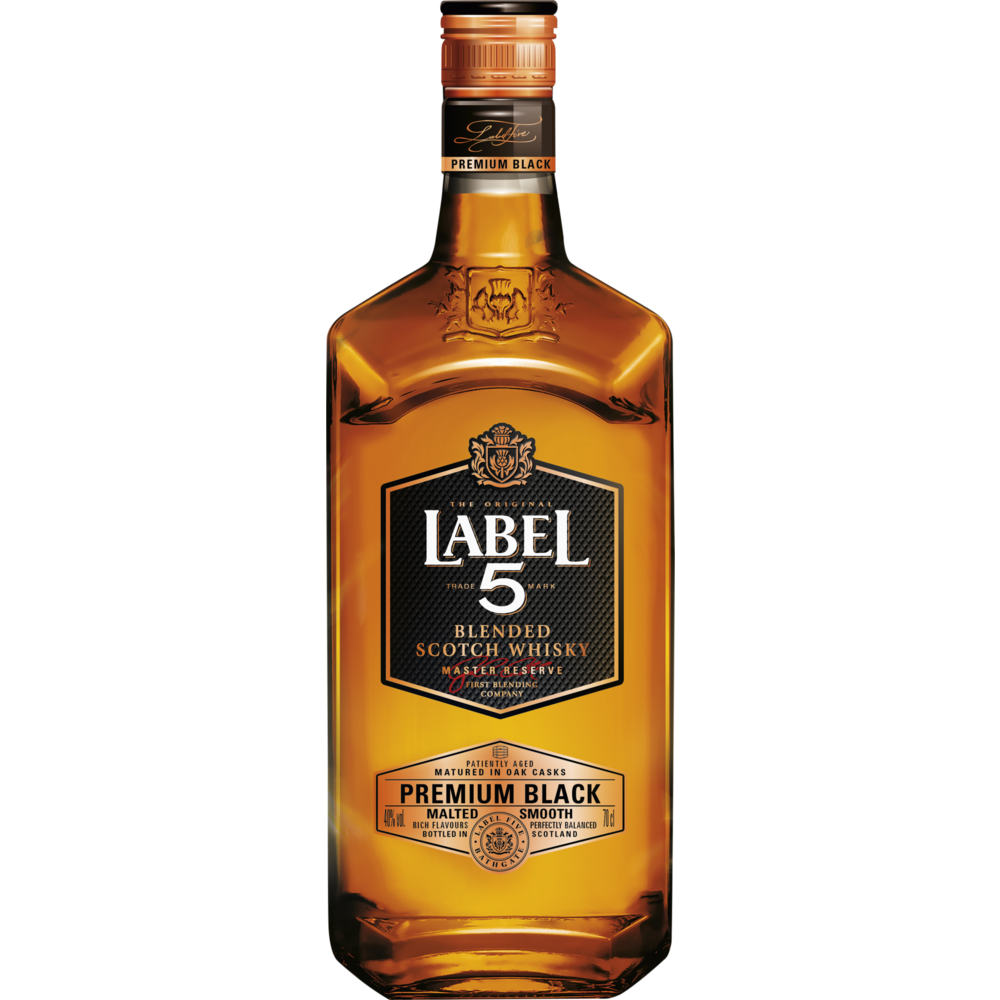 Whisky scotch Premium black, Label 5 (70 cl)
