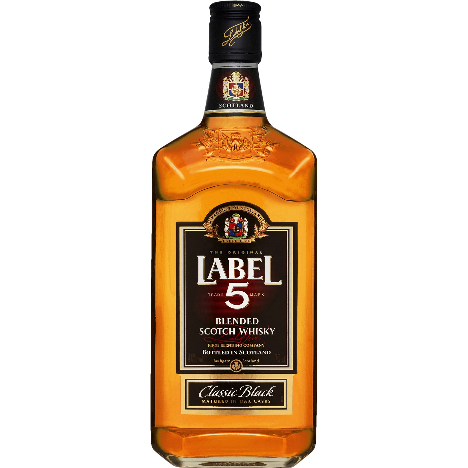 Whisky scotch classic black, Label 5 (70 cl)