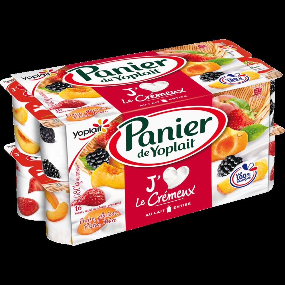 Yaourt fruits crémeux, Panier de Fruits Yoplait (16 x 130 g)