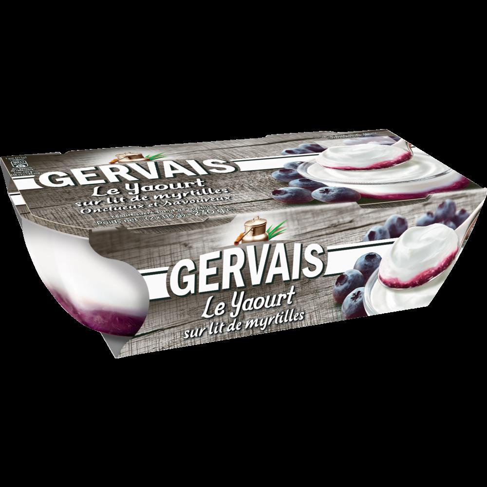 Yaourt sucré sur lit de myrtilles, Gervais ( 2 x 115 g)