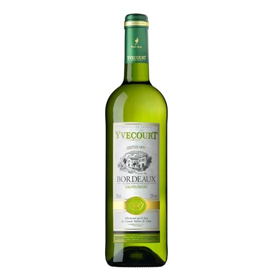 Bordeaux blanc Sauvignon Yvecourt 2016 (75 cl)
