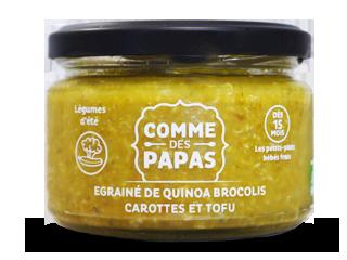Egrainé de Quinoa, Brocolis, Carottes et Tofu BIO - 15 mois Comme des Papas (230 g)