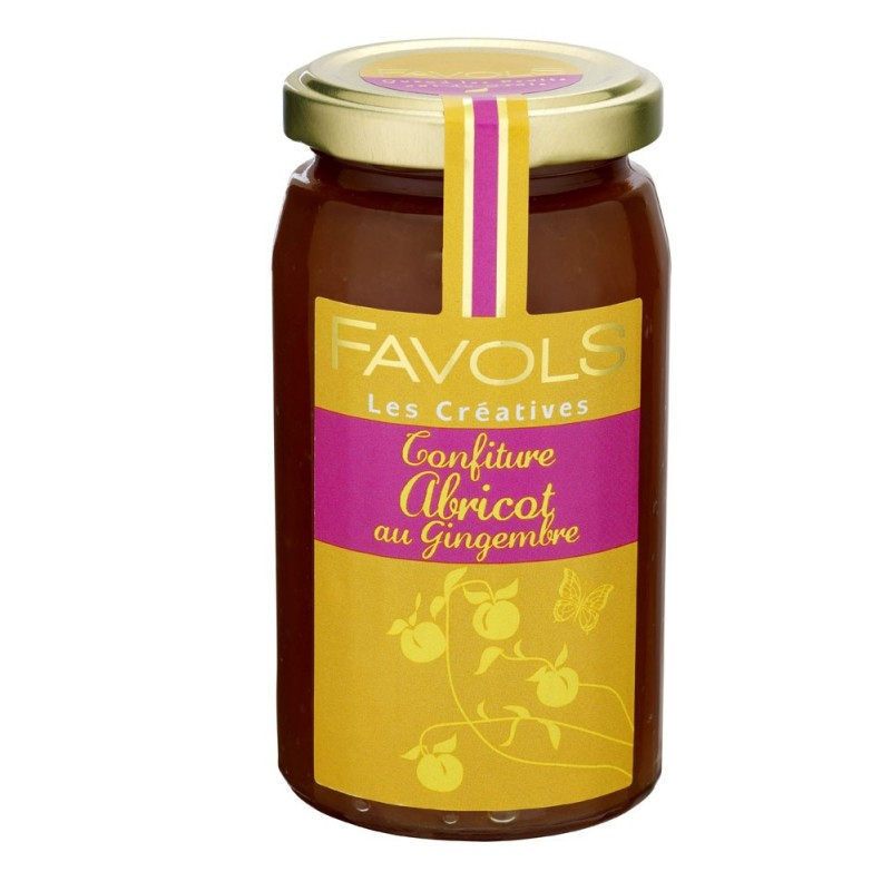 Confiture abricot gingembre Favols (270 g)
