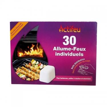 Cubes allume feu sans odeur, Actifeu (x 30)