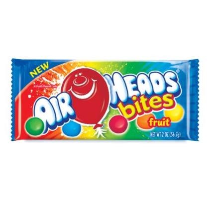 Mini bonbons goûts fruit, Airheads Bites (56.7 g)