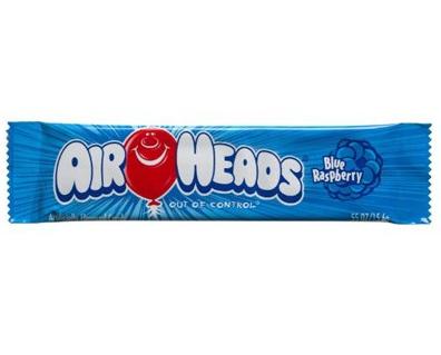 Bonbons goût framboise bleue, Airheads (15.6 g)