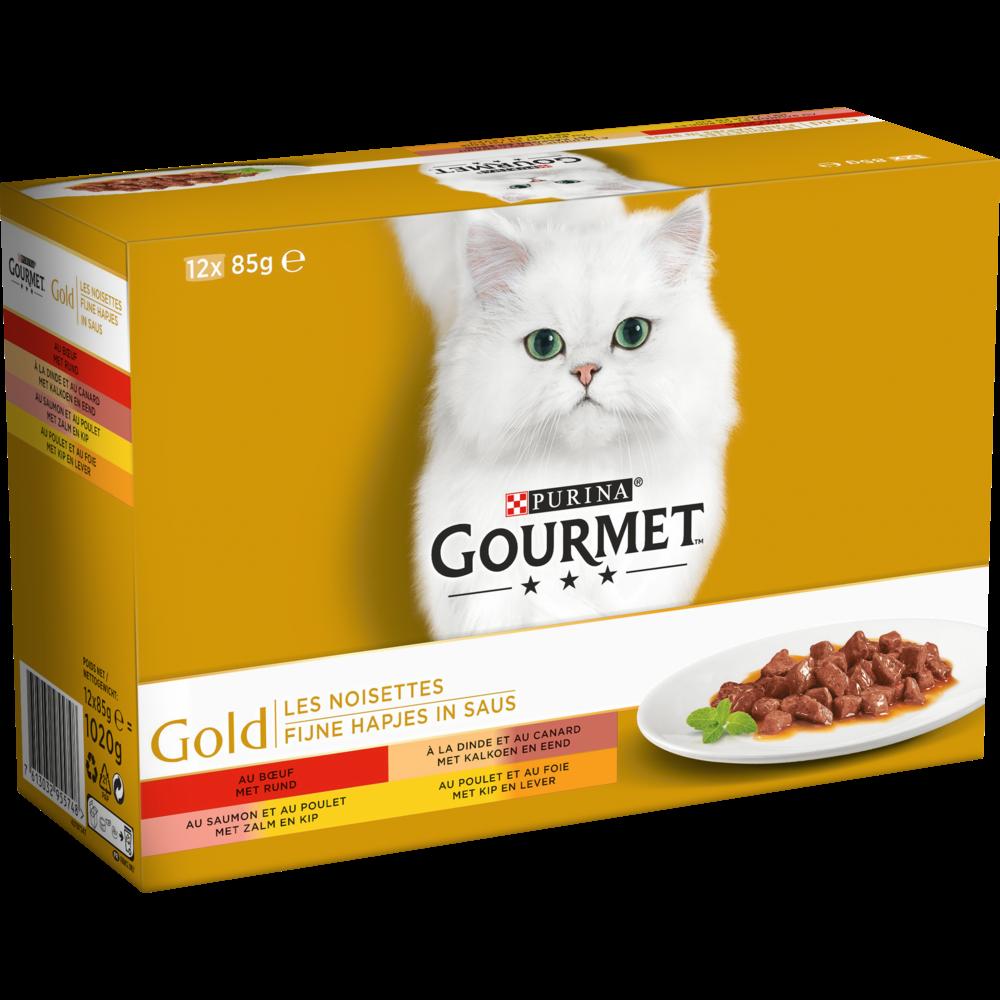 Les noisettes en sauce Gourmet Gold, Purina (12 x 85 g)