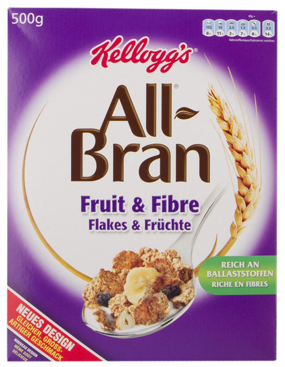 Céréales Fruit'n Fibre All Bran Kelloggs (500 g)