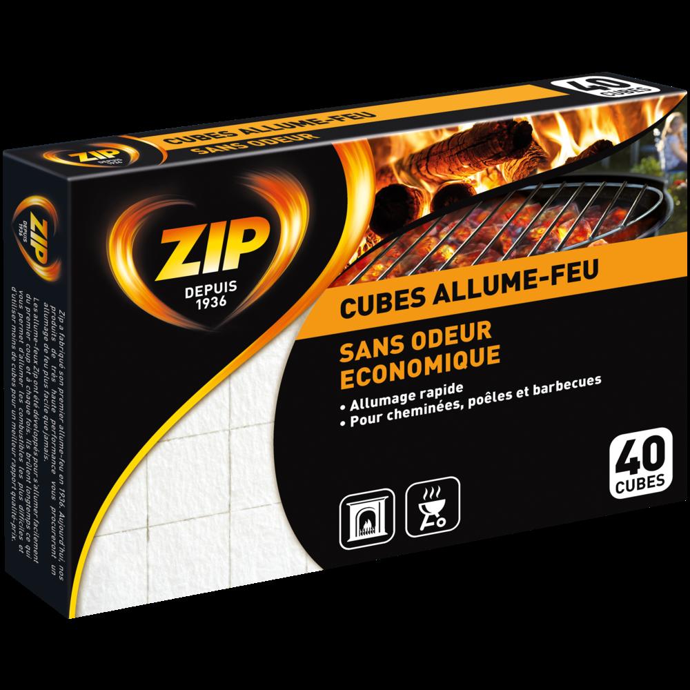 Allume feu sans odeur éco, Zip (x 40)