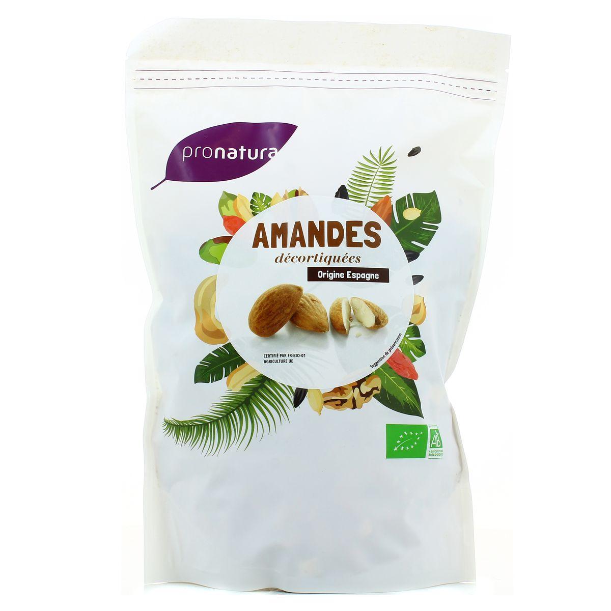 Amandes grillées salées Esp. BIO, Pronatura (125 g)