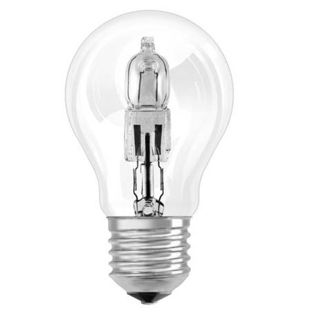 Ampoule halogène éco standard 46W, 94x55 mm, culot E27 à vis (x 2)