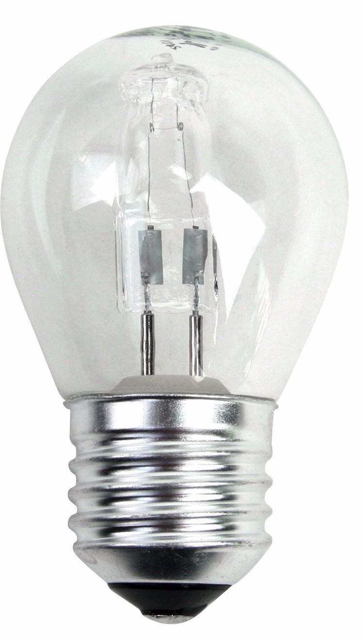 Ampoule sphérique halogène éco 30W 2000 heures, culot E27 (x 2)