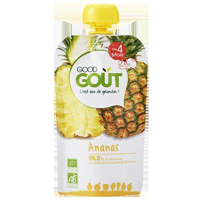 Ananas BIO - dès 4 mois, Good Goût (120 g)