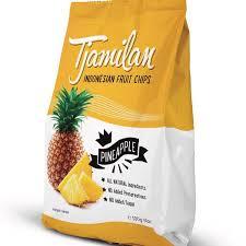 Chips d'ananas, Indonesian fruit chips, Tjamilan (100 g)