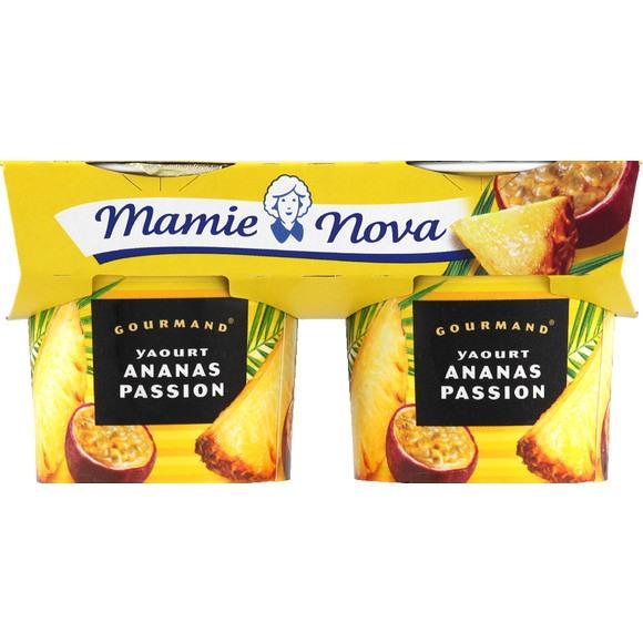 Yaourt Ananas Passion, Mamie Nova (2 x 150 g)