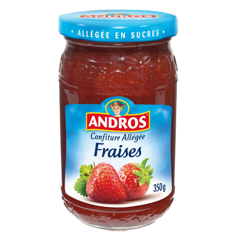 Confiture allégée fraises, Andros (350 g)