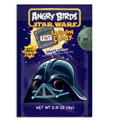 Bonbons pétillants Dark Vador, Angry Birds (9 g)