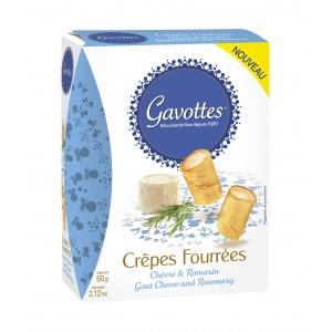 Crêpes fourrées chèvre & romarin, Gavotte (60 g)
