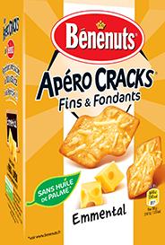 Crakers fins & fondants à l'emmental, Bénenuts (85 g)