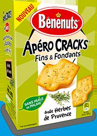 Crackers fins & fondants aux herbes de Provence, Bénenuts (85 g)