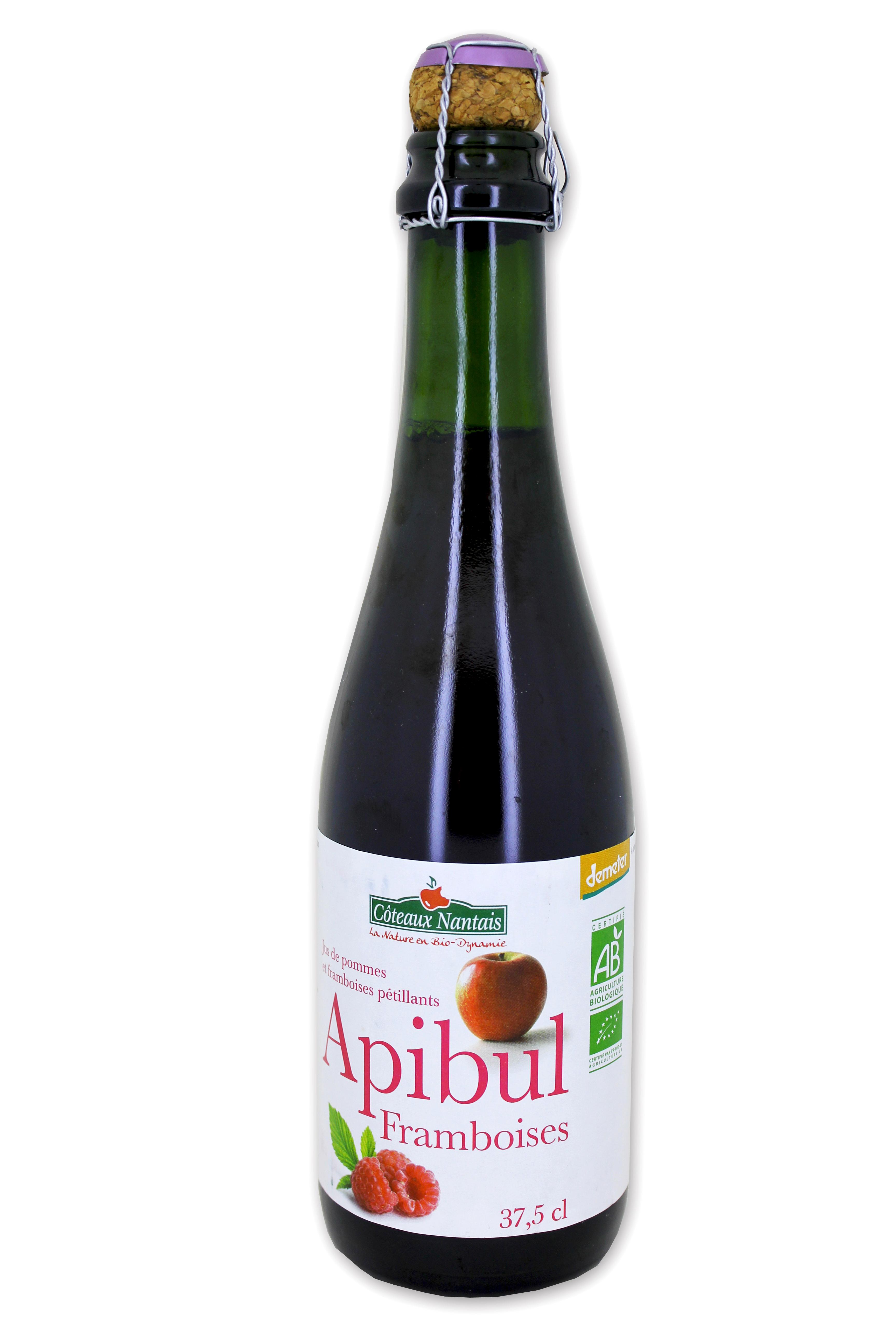 Pétillant à la framboise Apibul Bio, Coteaux Nantais (37,5 cl)