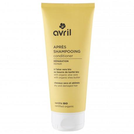 Après-shampooing réparation pour cheveux secs et abimés certifié BIO, Avril (200 ml)