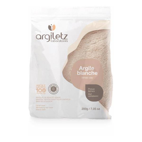 Argile blanche ultra-ventilée en poudre, Argiletz (200 g)