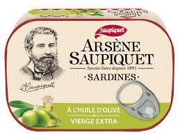Sardines huile d'olive Arsene, Saupiquet (135 g)