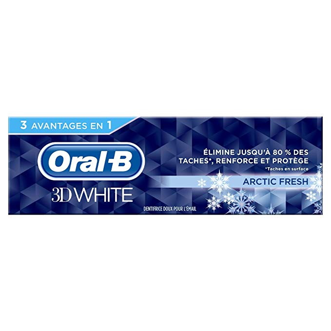 Dentifrice 3D White Artic Fresh, Oral B (75 ml)