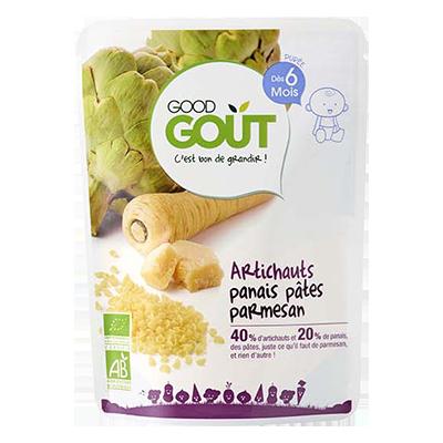 Artichauts, panais, pâtes et parmesan BIO - dès 6 mois, Good Goût (190 g)
