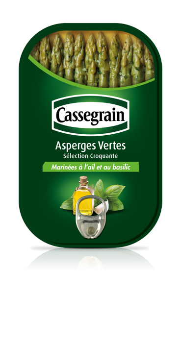 Asperges vertes marinées, Cassegrain (120 g)