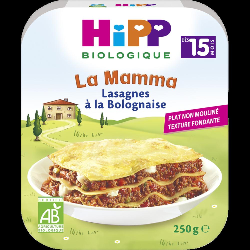 La mamma lasagne à la bolognaise BIO - dès 15 mois, Hipp (250 g)
