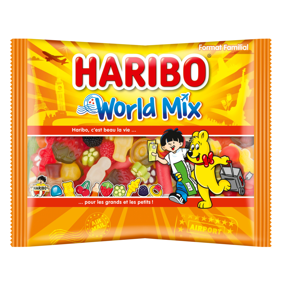 Assortiment de bonbons World Mix, Haribo (500 g)